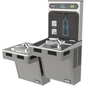 Halsey Taylor HTHB-HACDBLRPV-NF HydroBoost Reversed Bi-Level Barrier Free Filterless Drinking Fountain and Bottle Filling Station (Non-refrigerated)