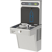 Halsey Taylor HTHB-HVRGRN8-NF HydroBoost Barrier Free 8 GPH Filterless Vandal Resistant GreenSpec Listed Water Cooler and Bottle Filling Station (Refrigerated Drinking Fountain)