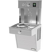 Halsey Taylor HTHBHVR8 HydroBoost Barrier Free 8 GPH Filtered Vandal Resistant Water Cooler and Bottle Filling Station (Refrigerated Drinking Fountain)