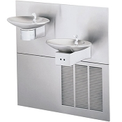 Halsey Taylor OVL-II SER-EE-Q Bi-Level Barrier Free 8 GPH Electronic Eye Water Cooler (Refrigerated Drinking Fountain)