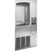 Halsey Taylor RC8A-Q with 14762 Fully Recessed Barrier Free 8 GPH Water Cooler with Cup Dispenser (Refrigerated Drinking Fountain)
