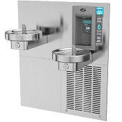 Oasis M8CREBF Bi-Level Modular Barrier Free Electronic VersaFiller 8 GPH Water Cooler and Bottle Filling Station (Refrigerated Drinking Fountain)