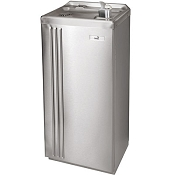 Sunroc NSFD20CP Free Standing 20 GPH Corrosion Free Water Cooler (Refrigerated Drinking Fountain)