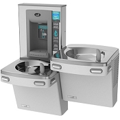 Oasis PG8EBFSL Bi-Level Barrier Free Electronic VersaFiller 8 GPH Water Cooler and Bottle Filling Station (Refrigerated Drinking Fountain)