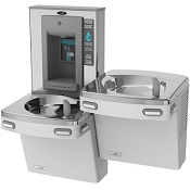 Oasis PGSBFSL Bi-Level Barrier Free VersaFiller Drinking Fountain and Bottle Filling Station (Non-refrigerated)