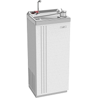 Oasis PLF14FAH Free Standing Hot 'N' Cold 14 GPH Water Cooler (Refrigerated Drinking Fountain)
