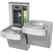 Oasis PGVEBFSL Vandal Resistant Barrier Free Electronic VersaFiller Drinking Fountain and Bottle Filling Station (Non-refrigerated)