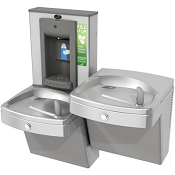 Oasis PGVSBFSL Bi-Level Vandal Resistant Barrier Free VersaFiller Drinking Fountain and Bottle Filling Station (Non-Refrigerated)