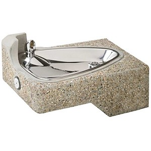 Haws 1047 Barrier Free Concrete Drinking Fountain (Non-refrigerated)