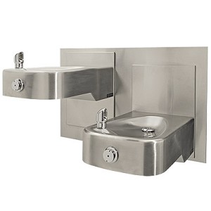Haws 1117L Barrier-Free Dual Wall Mount Drinking Fountain (Non-refrigerated)