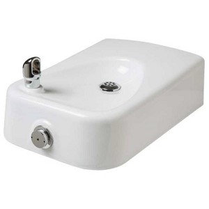 Haws 1311 Barrier Free White Enameled Iron Drinking Fountain (Non-refrigerated)