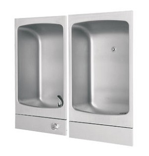 Haws 2406 Barrier Free Fully Recessed Drinking Fountain and Cuspidor (Non-refrigerated) - Discontinued