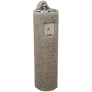 Haws 3060FR Freeze Resistant Concrete Outdoor Drinking Fountain (Non-refrigerated)