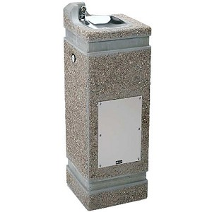 Haws 3121 Concrete Outdoor Drinking Fountain (Non-refrigerated)