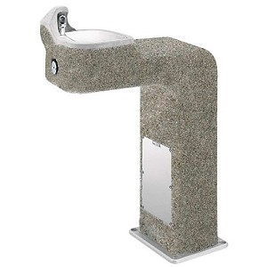 Haws 3177 Barrier Free Concrete Outdoor Drinking Fountain (Non-refrigerated)