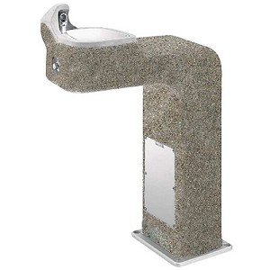 Haws 3177FR Barrier Free Freeze Resistant Concrete Outdoor Drinking Fountain (Non-refrigerated)