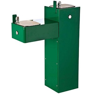 Haws 3300 Bi-Level Barrier Free Heavy-Duty Outdoor Drinking Fountain (Non-refrigerated)