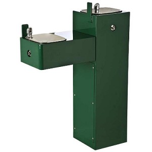 Haws 3300FR Bi-Level Barrier Free Freeze Resistant Heavy-Duty Outdoor Drinking Fountain (Non-refrigerated)