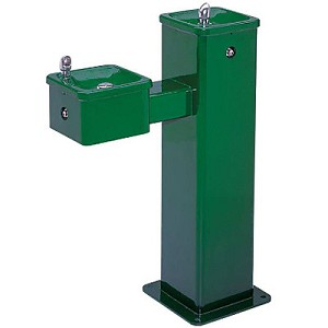 Haws 3500FR ADA Freeze-Resistant Pedestal Outdoor Drinking Fountain (Non-refrigerated)