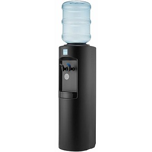 Clover B7B Black Cabinet Room Temperature and Cold Bottled Water Cooler