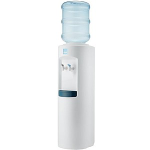 Clover B7B White Cabinet Room Temperature and Cold Bottled Water Cooler