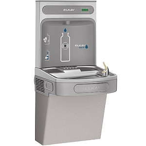 Elkay EZS8WSLK EZH2O Barrier Free 8 GPH Water Cooler with Bottle Filling Station - Non-Filtered (Refrigerated Drinking Fountain)