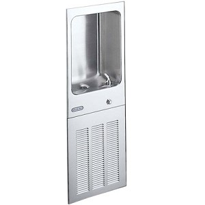 ELKAY LJNEM8K Wall Mounted Fully Recessed Filtered 8 GPH Water Cooler (Refrigerated Drinking Fountain)