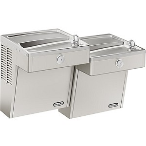 ELKAY VRCTL8SC Bi-Level Vandal Resistant ADA 8GPH Water Cooler (Refrigerated Drinking Fountain)