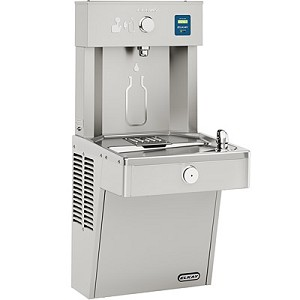 Elkay LVRC8WSK EZH2O Barrier Free Filtered 8 GPH Vandal Resistant Water Cooler and Bottle Filling Station (Refrigerated Drinking Fountain)