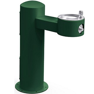Halsey Taylor 4410FRK Freeze-Resistant Endura II Tubular Pedestal Barrier Free Outdoor Drinking Fountain (Non-refrigerated)