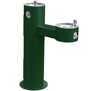 Halsey Taylor 4420FRK Freeze-Resistant Bi-Level Endura II Tubular Pedestal Barrier Free Outdoor Drinking Fountain (Non-refrigerated)