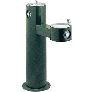 Halsey Taylor 4420 Sanitary FR Freeze-Resistant Bi-Level Endura II Tubular Pedestal Barrier Free Outdoor Drinking Fountain (Non-refrigerated)
