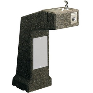 Halsey Taylor 4590 FR Freeze-Resistant Sierra Stone Pedestal Barrier Free Drinking Fountain (Non-refrigerated)