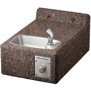 Halsey Taylor 4593 FR Freeze-Resistant Sierra Stone Face-Mounted Barrier Free Drinking Fountain (Non-refrigerated)