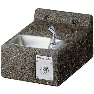 Halsey Taylor 4593 Sierra Stone Face-Mounted Barrier Free Drinking Fountain (Non-refrigerated)