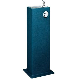 Halsey Taylor 4715 FR Freeze-Resistant Endura Steel Pedestal Drinking Fountain (Non-refrigerated)