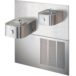 Halsey Taylor HRF-ESR Reversed Bi-Level Barrier Free 8 GPH Water Cooler (Refrigerated Drinking Fountain)