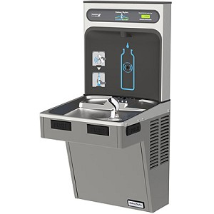 Halsey Taylor HTHB-HAC8 HYDROBOOST Barrier Free 8 GPH Filterless Water Cooler with Bottle Filling Station (Refrigerated Drinking Fountain)