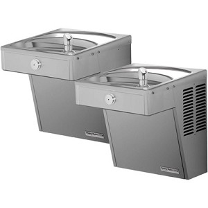 Halsey Taylor HVR-BL LR Bi-Level Barrier Free Vandal Resistant ADA Drinking Fountain (Non-refrigerated)
