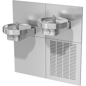 Oasis M8CR Bi-Level Barrier Free 8 GPH RADII Water Cooler (Refrigerated Drinking Fountain)