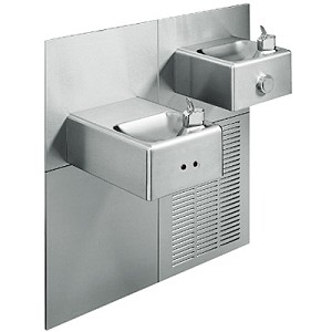 Oasis M8SCEE Bi-Level Barrier Free 8 GPH Modular Water Cooler with Electronic Eyes (Refrigerated Drinking Fountain)